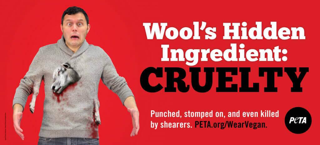 Wool's Hidden Ingredient: Cruelty Billboard