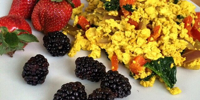 Tofu Scramble and Fruit