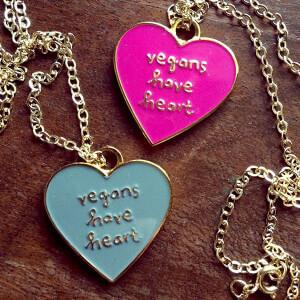 PETA Vegans Have Heart Necklace