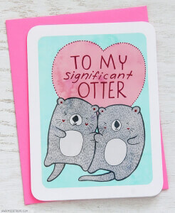 Valentine's Day Cards from Etsy