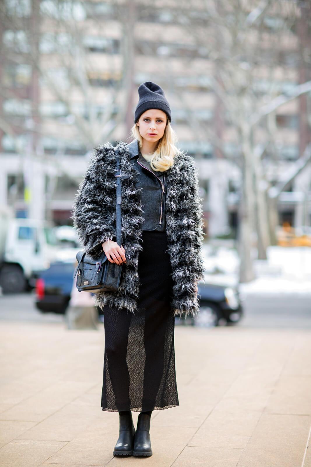 BooHoo Sheila Shaggy Layered Faux Fur Coat