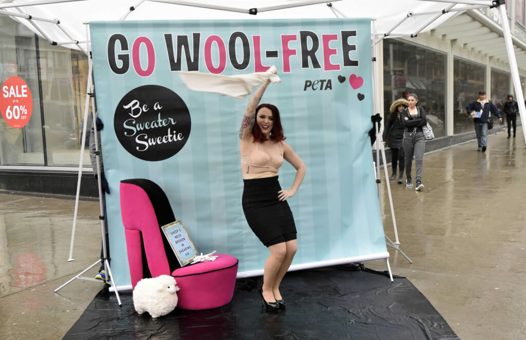 PETA Anti-Wool Demo Burlesque Dancer