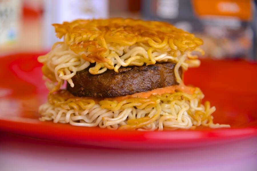 Ramen Noodle Beyond Meat Beastly Slider