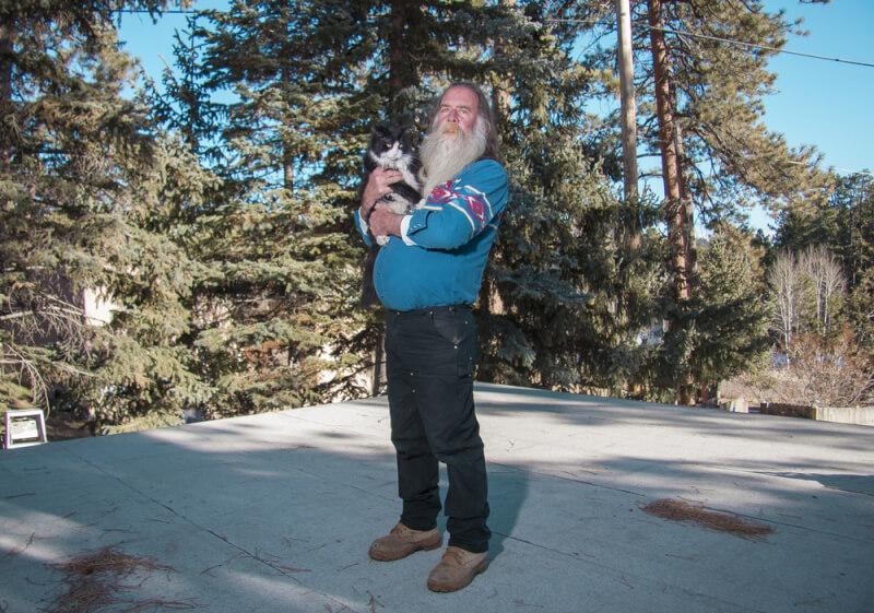 David Williams - Bearded Man Holds Cat