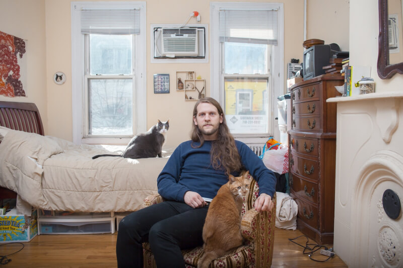 David Williams - Man with Two Cats