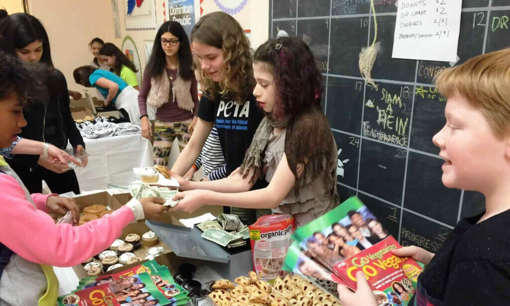 Rose McCoy Holds PETA Bake Sale at Clinton School for Writers and Artists