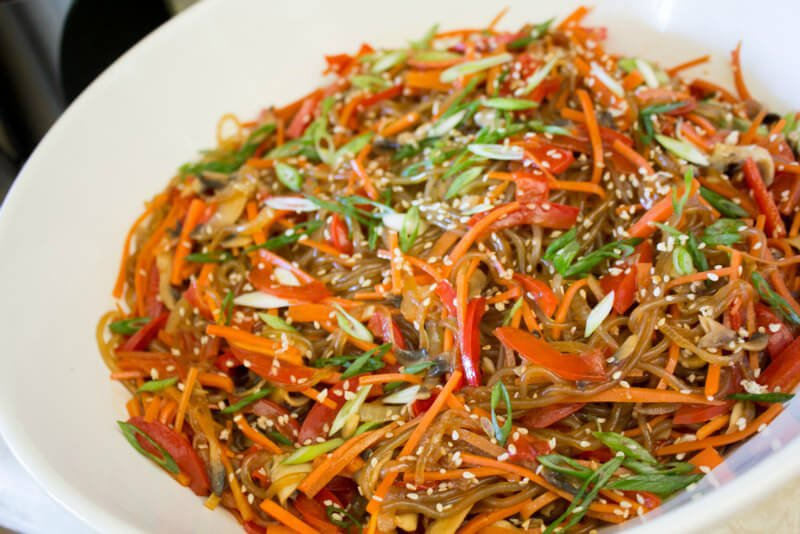 13 vegan korean recipes to make you say mashita peta korean japchae sweet potato noodles forumfinder Gallery