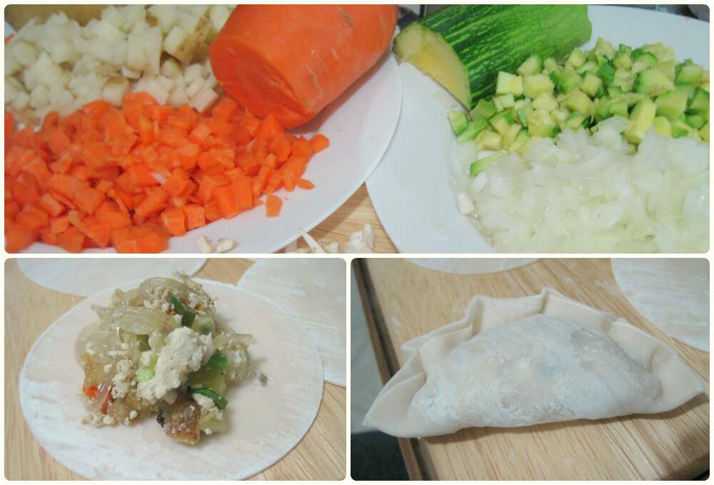 Mandu Dumpling Collage