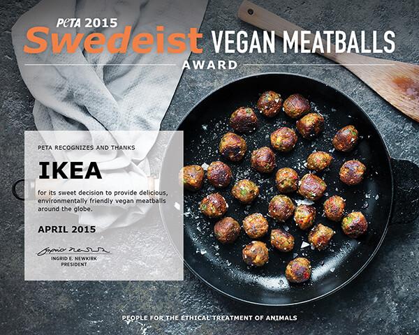 Ikea Meatball award vegan