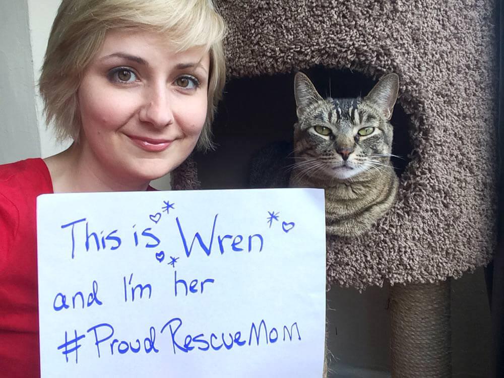 Proud Rescue Mom Lindsay Rajt with Wren