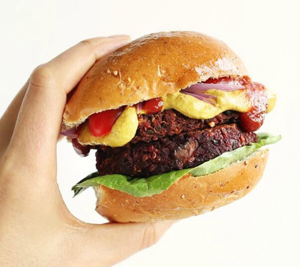 Beet Burger Minimalist Baker