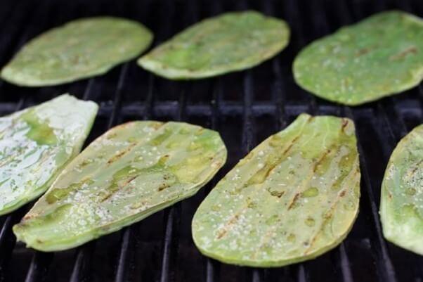 Grilled Cactus Nopales