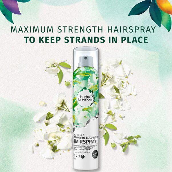 Herbal Essence hairspray product photo