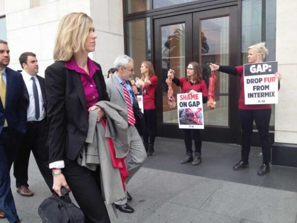 PETA protest at Gap shareholder meeting