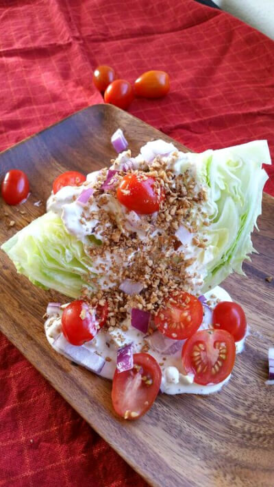 Bacon' Wedge Salad with Vegan Bleu Cheese Dressing | Recipes | Food ...