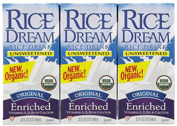 Vegan Sources of Calcium Rice Dream Rice Milk