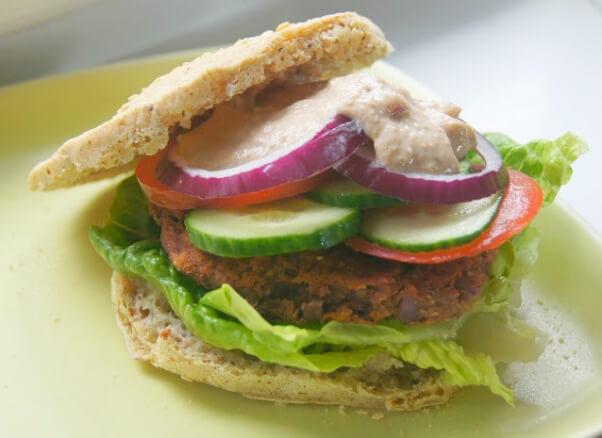 gluten free vegan burger