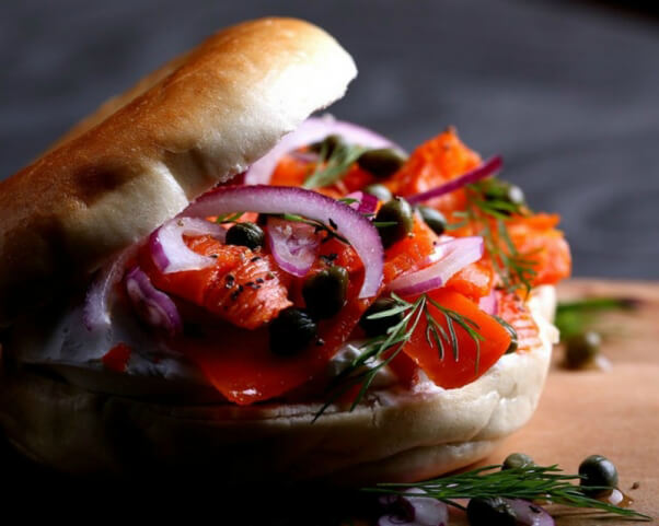 Bagel and Faux Lox