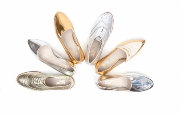 Beyond Skin metallic shoes