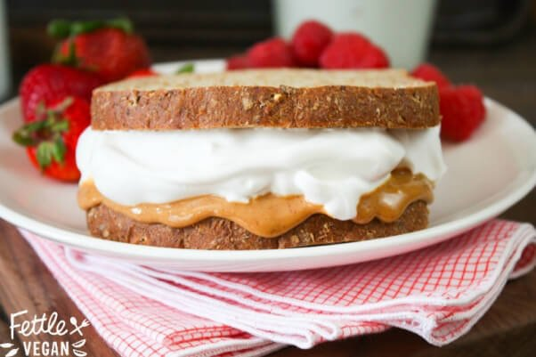 Fettle Vegan Aquafaba Fluffernutter Sandwich