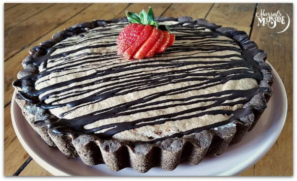 Morsels and Moonshine Aquafaba Chocolate Strawberry Mousse Pie