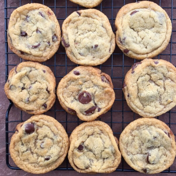 Vedged Out Chocolate Chip Cookies