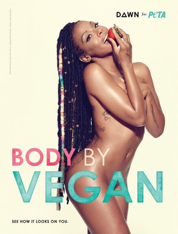 Dawn Richard in Vegan PETA Ad