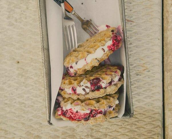 Ice Cream Sandwich Waffle