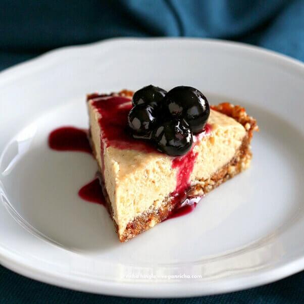 blueberry cheesecake vegan richa