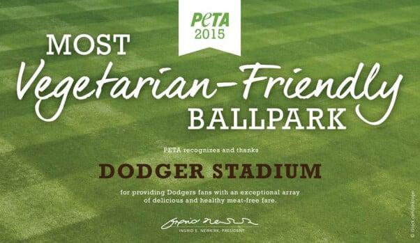 Veg-Friendly MLB Park Certificate