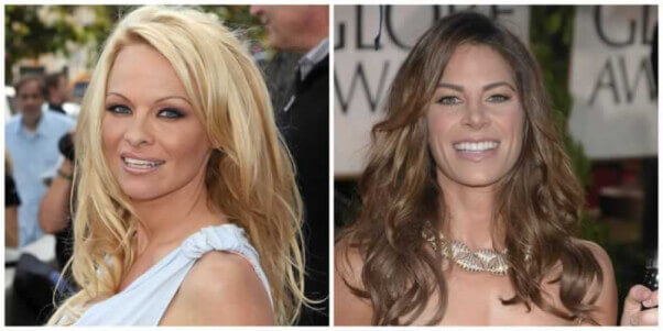 Pam Anderson and Jillian Michaels collage