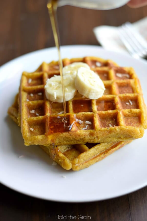 sweet plantains waffles