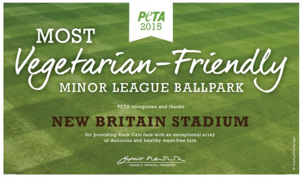 Certificate Artwork: Veg Friendly Ballparks