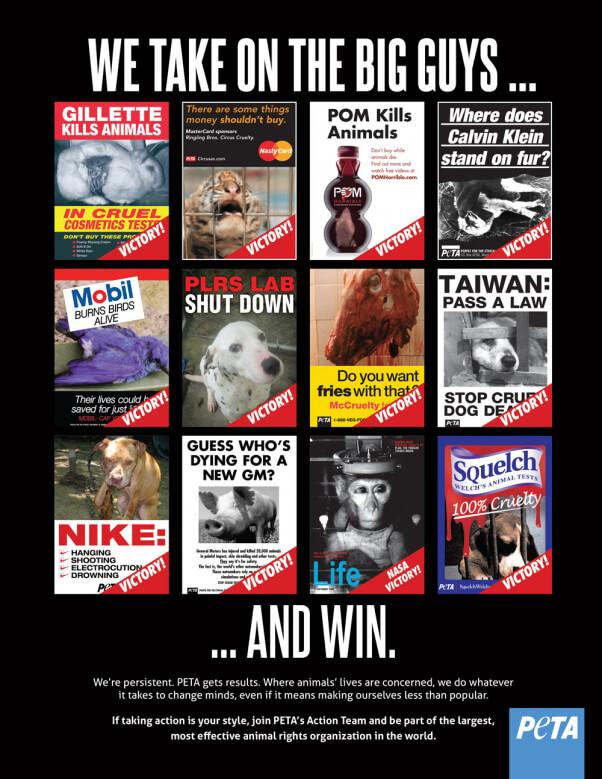 PETA Victories Campaign Poster