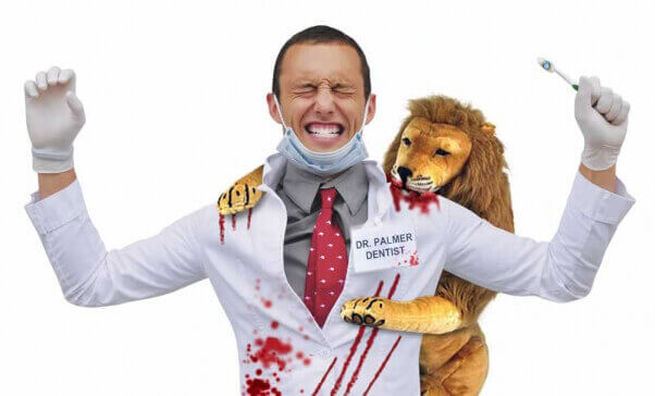 PETA's Walter Palmer Halloween costume lets Cecil the lion win