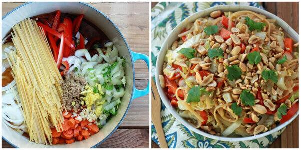 Peanut Noodle One-Pot Recipe Easy Vegan Meal