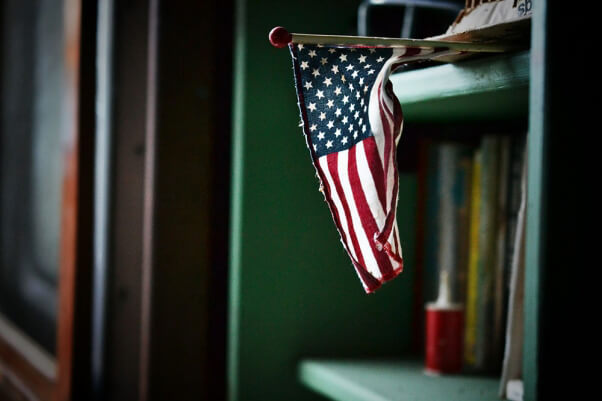American-Flag-on-Book-Shelf-USA
