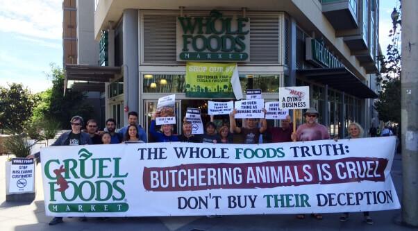More PETA members take on Whole Foods in San Francisco.
