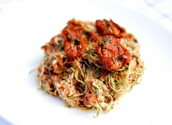 Raw vegan recipes to power you through the day peta raw vegan zucchini marinara pasta forumfinder Image collections
