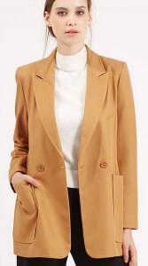 Topshop tan coat