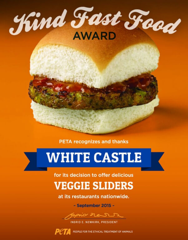 White Castle Kind Fast Food Award