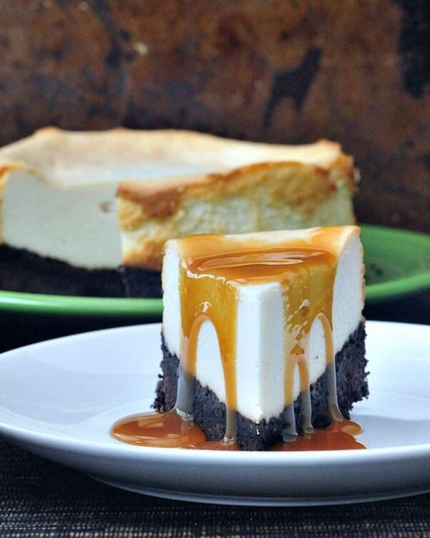 brownie cheesecake dessert