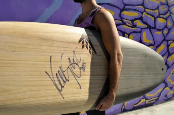 Firewire Spitfire surfboard signed by Kelly Slater