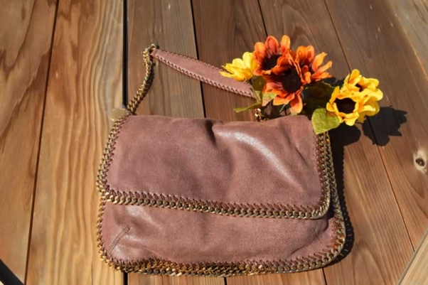 Shaggy Deer with Gold Falabella Messenger bag signed by Stella McCartney