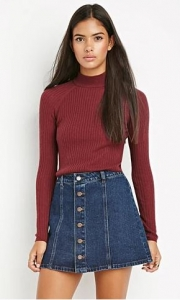 Denim skirt F21