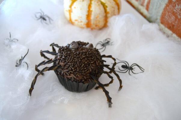 Halloween Recipe Chocolate Spider Cupcake