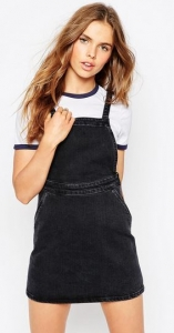 asos pinafore denim dress