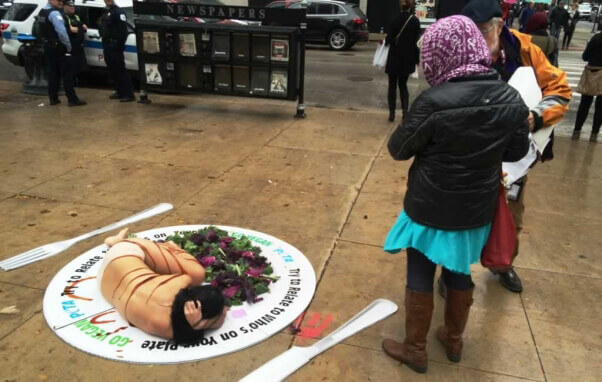 'Try to Relate to Who's on Your Plate' demo in Chicago