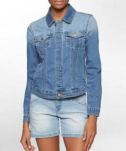 light jean jacket calvin klein