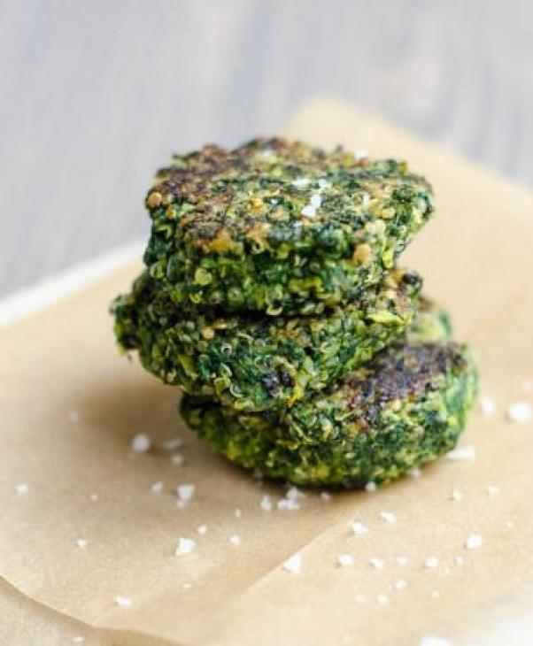 spinach fava bean quinoa